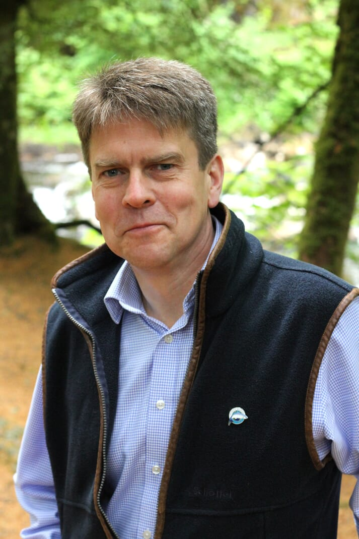 Mark Bilsby, the new CEO of the Atlantic Salmon Trust