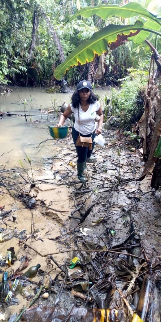 Funke Olatunde produces 12 tonnes of catfish a year and is looking to move into tilapia production too