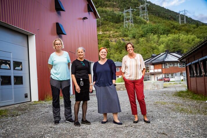 Event organisers Ingrid Lein (Nofima), Anne Gulla Hagen (SUNS), Jelena Kolarevic (Nofima) and Åsa Espmark (Nofima)