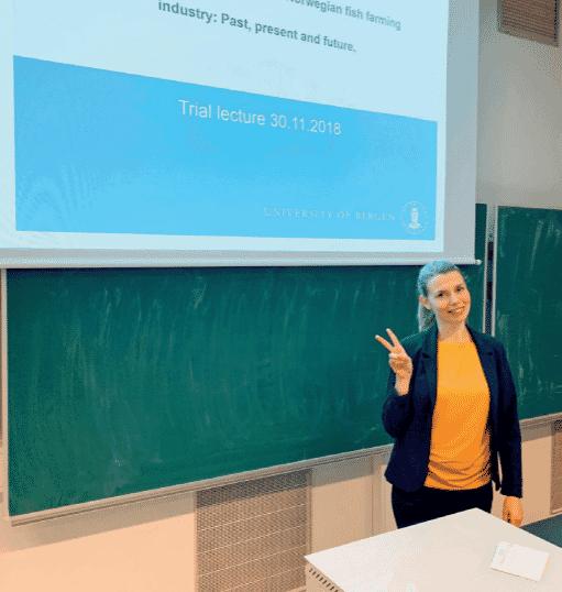 Lene Sveen defended her doctoral thesis at the University of Bergen on 30 November 2018