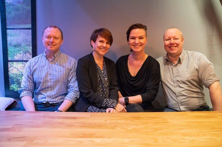 The JET Seafood team (L-R) Rasmus Kjellevold, Nina Seter, Jannecke Eeg Olsen and Eirik Talhaug