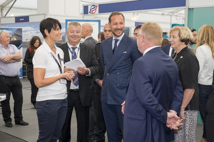 Crown Prince Haakon of Norway is opening Aqua Nor for the sixth time this year