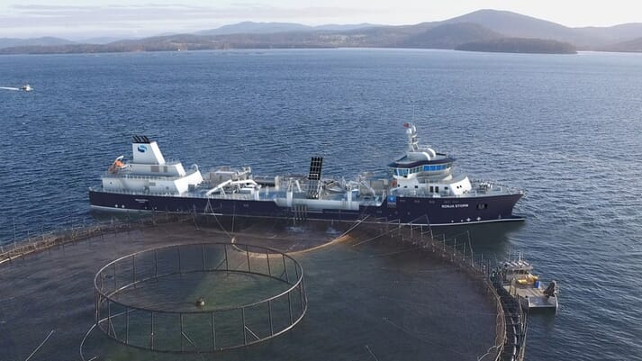 The 116 metre vessel can produce 16.8 million litres of freshwater from seawater each day