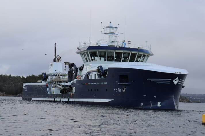 The 78-metre Seihav could benefit from being bigger according to its skipper