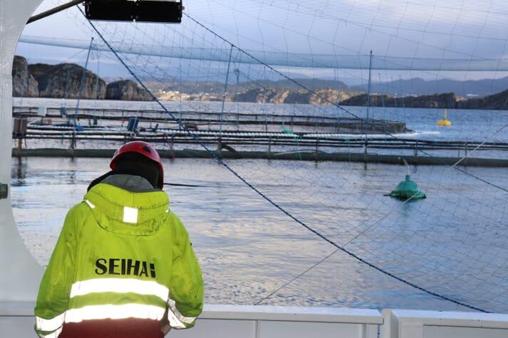 A nine-man crew operates the vessel