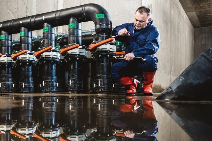 Ewen Leslie, chief engineer at Scottish Sea Farms' RAS hatchery at Barcaldine