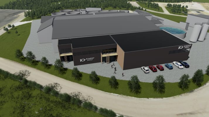 The new-look Kvaroy Smolt facility