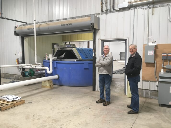 Ed Heslop, president and founder of Finger Lakes Fish, and CEO, Phil Gibson