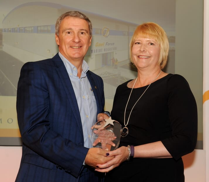 Gael Force won the award for Outstanding Performing Business for 25+ employees in 2017