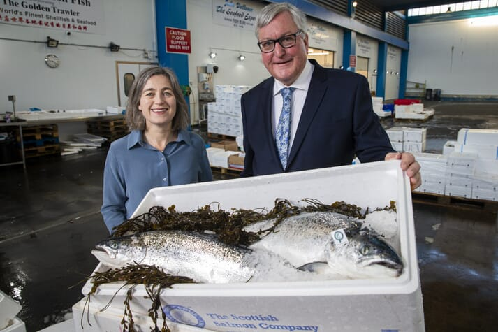 SSPO CEO Julie Hesketh-Laird and Rural Economy Secretary Fergus Ewing