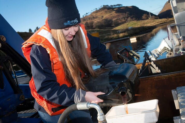 Lauren McMillan, another of Clara's cohort, joined the graduate programme at Dawnfresh Farming