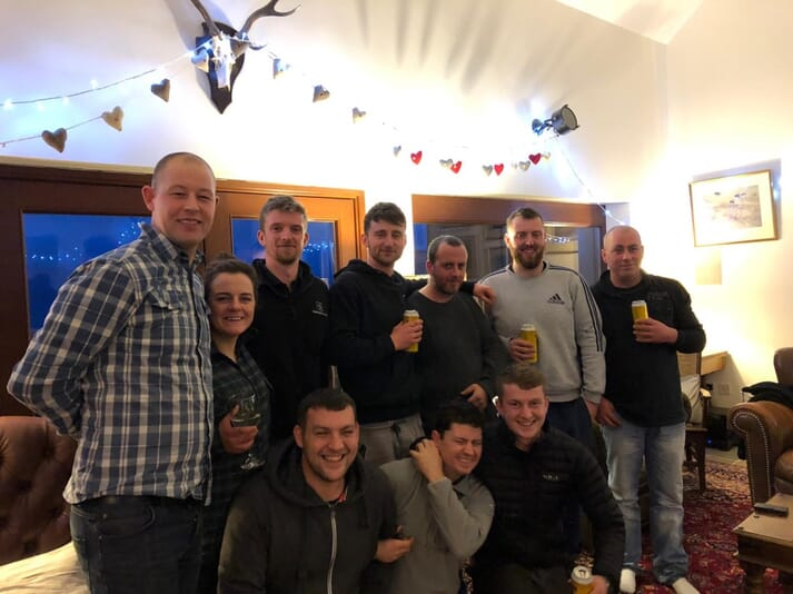 The Mowi Christmas party at Gallanach Lodge