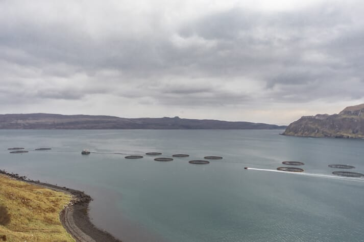 The feed barge will allow the Scottish Salmon Company increase its salmon production off Skye by 2,000 tonnes