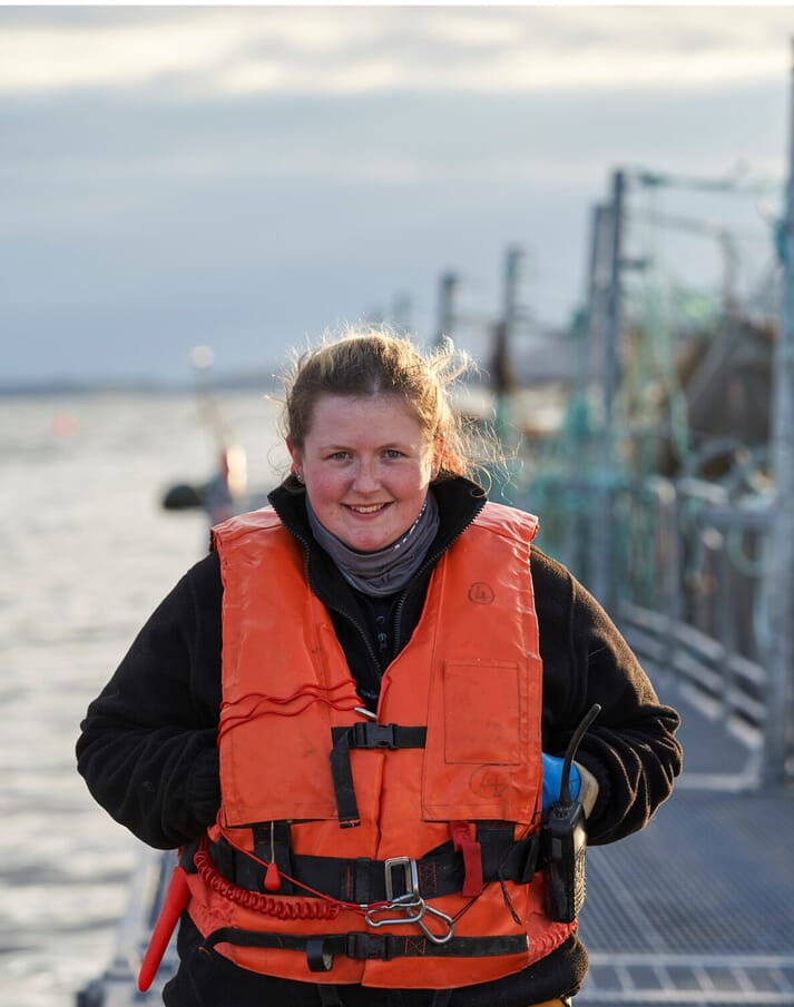 Shannon Graham has been offered a permanent role as assistant manager at Mowi's Lochailort RAS hatchery