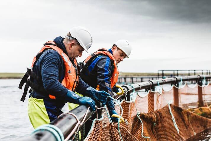 Scotland's salmon farmers combined spend over £595 million annually on goods and services from Scottish suppliers