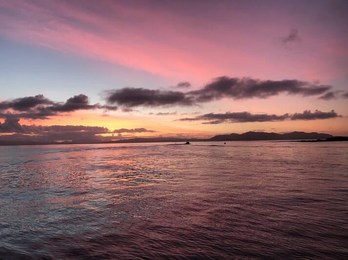 Sunrise from Port Mor, on Muck
