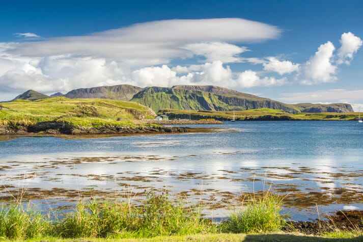 Mowi Scotland hopes to establish an organic farm with the capacity to hold 2,500 tonnes of salmon off the Isle of Canna, one of the Small Isles