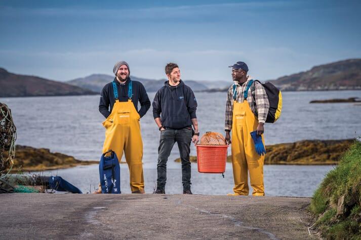 Loch Duart's Duncan MacNicol, Lewis Bennett and Daniel Otieno