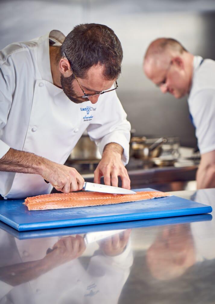 Patrick Evans prepares Loch Duart Salmon