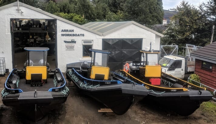 Arran Workboats has already delivered nine boats to The Scottish Salmon Company in the last two years