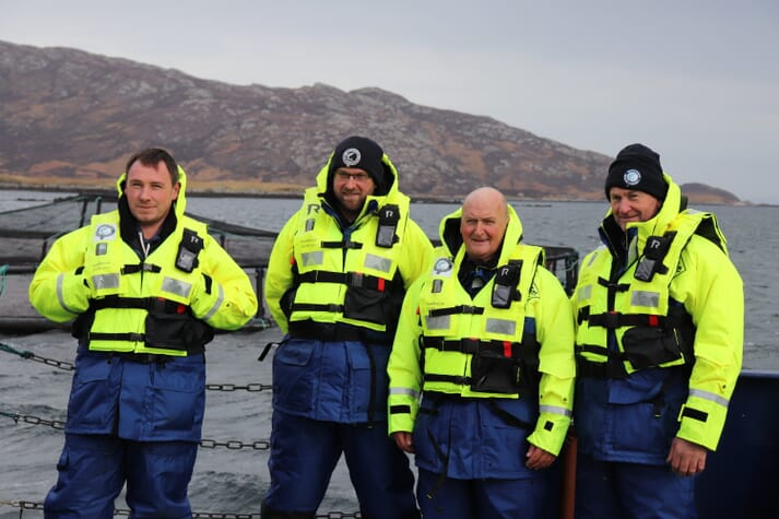 The initiative has generated interest from the Scottish Salmon Company's farmers, many of whom are themselves native to the Hebrides