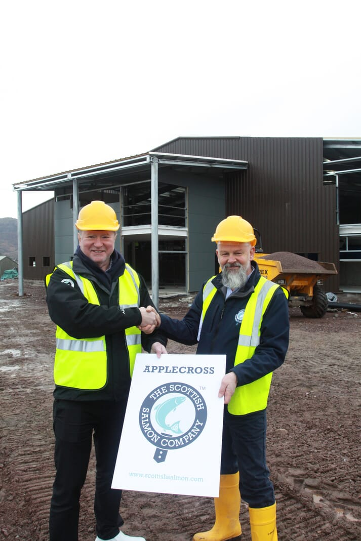 Craig Anderson, SSC's chief executive, and Richard Polanski SSC's recirculation project manager, at the Applecross Kishorn site, which is due to be completed in 2020