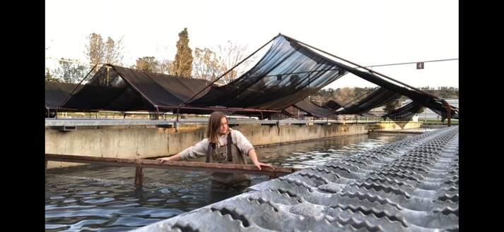 Graduates from Clara's MSc programme, such as Tarah Mayes - currently part of a salmon restocking programme in northern California - are now working in a wide variety of roles in the aquaculture sector