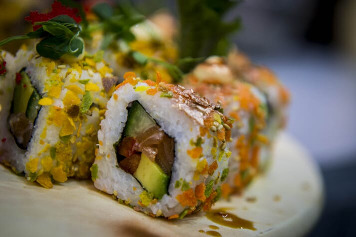 Sushi made with Scottish salmon is helping drive exports to Japan