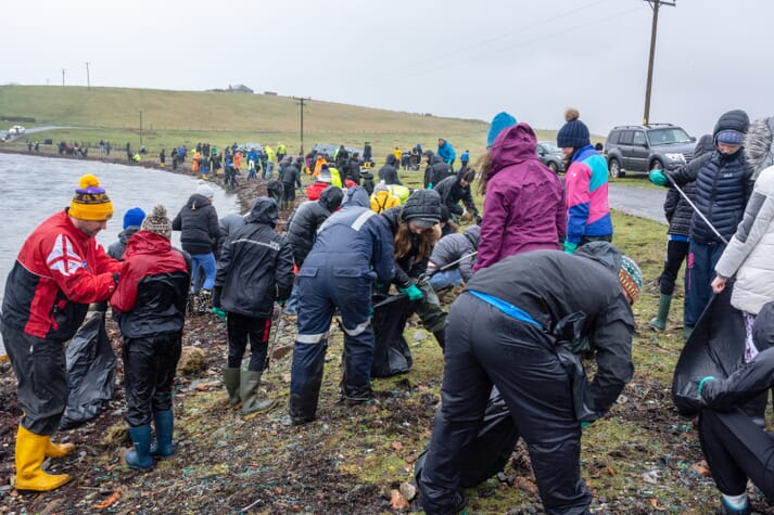 Scottish Sea Farms organised a beach clean at Clift Sound, in Shetland, earlier this year
