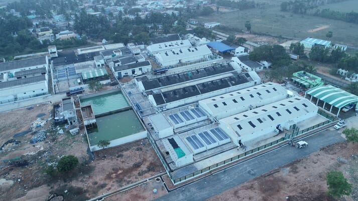 The Vaisakhi Bio Marine shrimp hatchery, in India