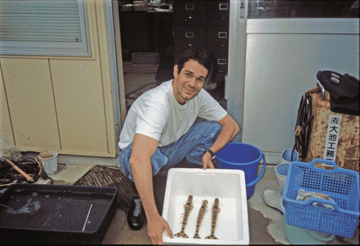 Oscar Hennig's career has included a two-year research project with shrimp immunology at the Shimonoseki National Fisheries University