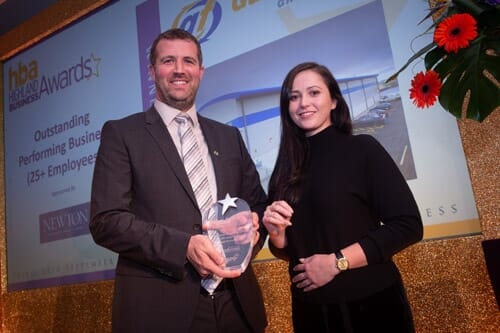 Stephen Offord collects the Outstanding Performing Business award