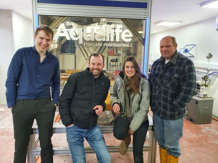 The team at Aqualife aim to develop a mobile robot capable of vaccinating fish as small as 20g