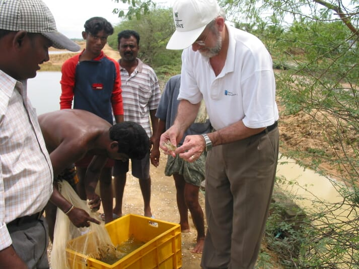 David is grateful for the belief in his products shown by the Hi-Line Aqua group in India