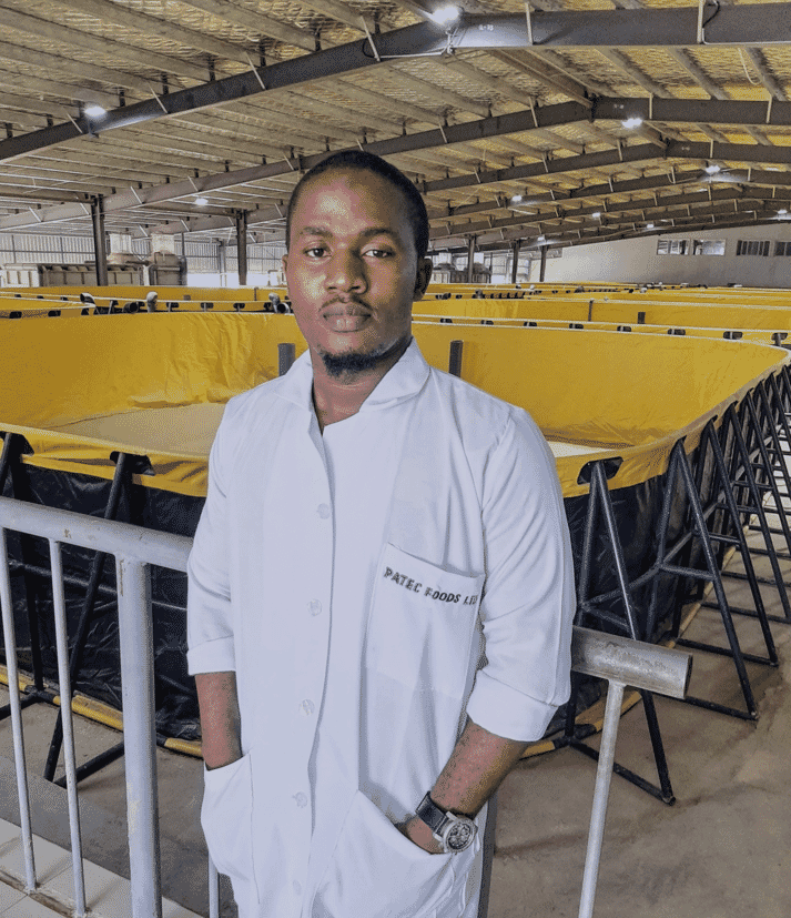 Abdulmalik Oladipupo aims to produce up tp 2,500 tonnes of catfish and pangasius a year at his current site