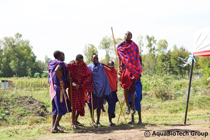 A group of young Maasai provide security for VicInAqua pilot