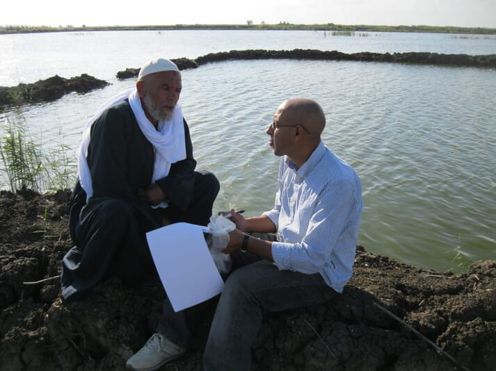 Dr Mahmoud Eltholth (right), one of the lead authors of the new paper on AMR in Egyptian tilapia