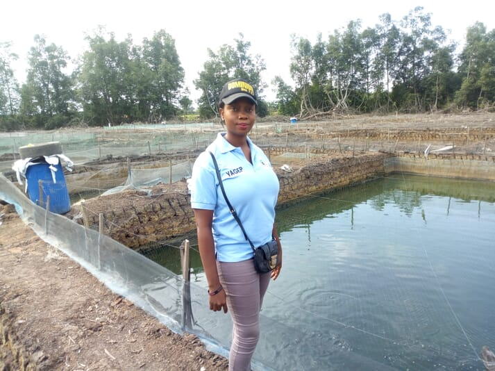 Mercy Akpukama Mercy Akpukama was given two ponds, 2,000 juvenile fish and 145 bags of feed when she became part of the YAGEP programme