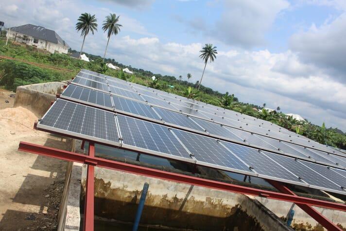 The solar panels at Ofanema247