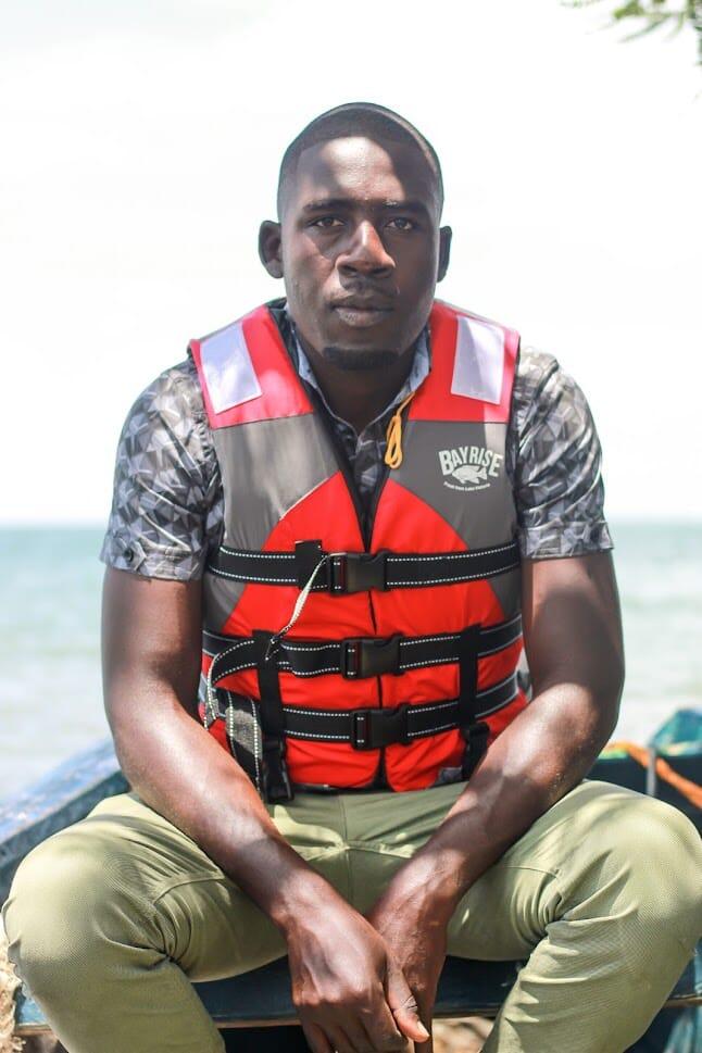 Wanyama Pascal, manager of Bayrise Fish Farm on Lake Victoria, Kenya