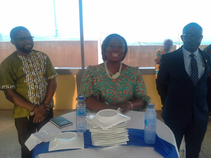 Ghana's Minister of Fisheries and Aquaculture, Elizabeth Afoley Quaye, attended the opening