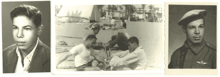 Ismail in his youth (l), growing up in the Nile Delta and joining the army in 1968