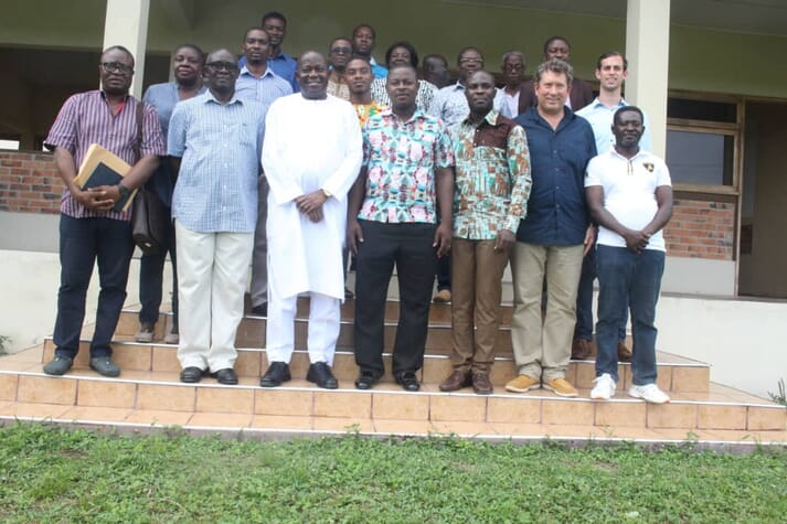 Particpants at the recent workshop on Critical Insights in Fish Farming, jointly run by Ghana's Ainoo-Ansah Aquaculture Centre, the University of Cape Coast and South Africa's Stellenbosch University