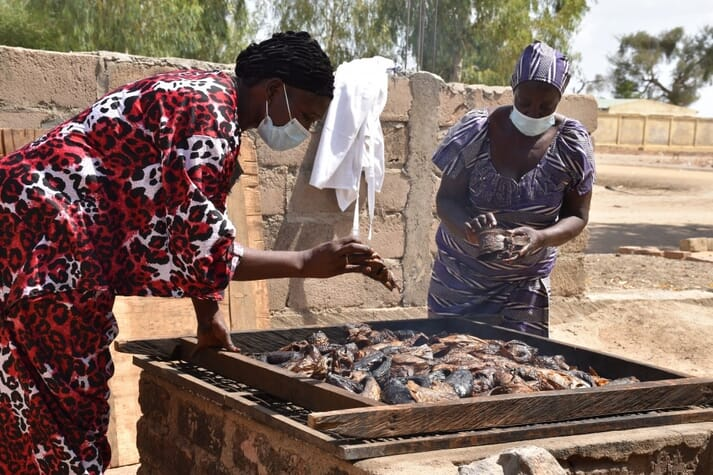 FAO has trained women on processing techniques, such as drying the fish. Wholesale buyers come from other cities to purchase these products