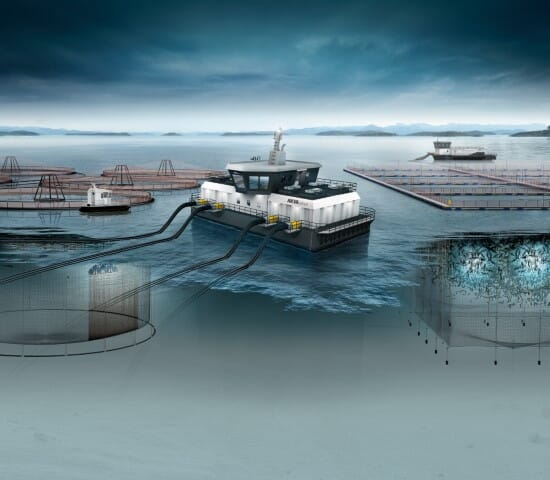 Akva group Scotland produce and service a wide range of aquaculture equipment, including feed barges and salmon pens