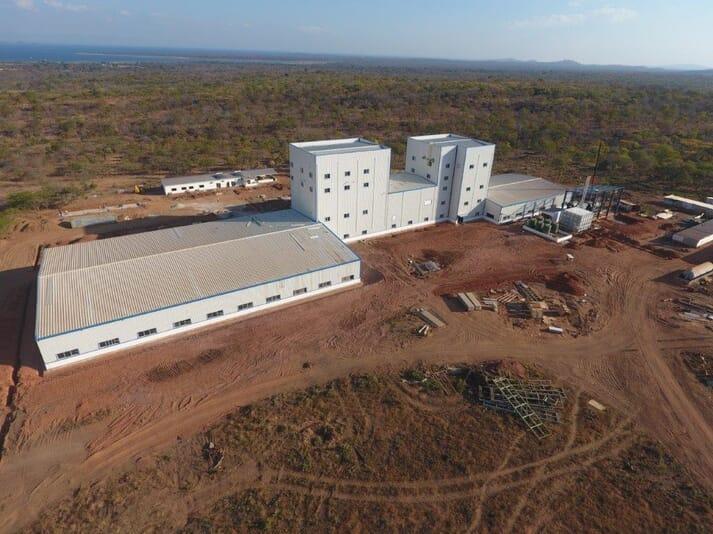 Aller Aqua's feed mill in Zambia