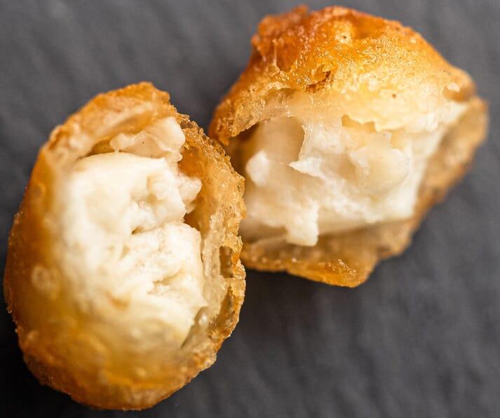 Deep fried cell-based mahi mahi