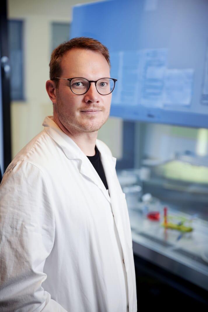 Man in a lab coat