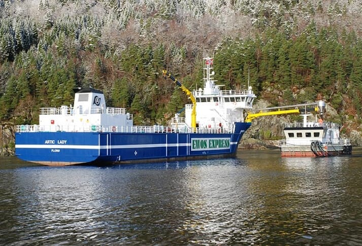 Artic Shipping has five feed delivery vessels under contract with EWOS