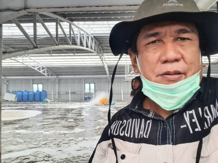 Hasanuddin Atjo has been instrumental in the development of super-intensive shrimp farming in Indonesia
